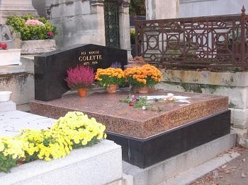 Tombeau de Colette à Père Lachaise. Photo GLKraut