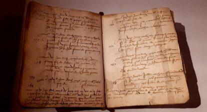 Registre de baptême présenté dans l'expo Henri II ©B. de Cosnac